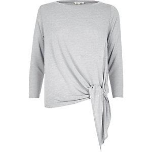 Light grey tied top