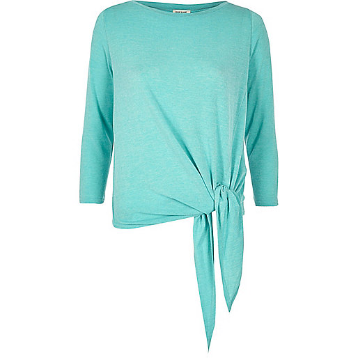 Light blue tied top