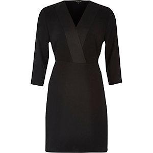 Black tux dress