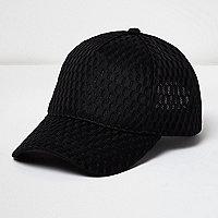 Black mesh cap