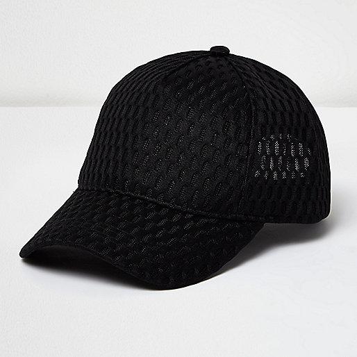 Casquette noire en mesh
