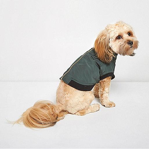 RI Dog khaki green bomber jacket
