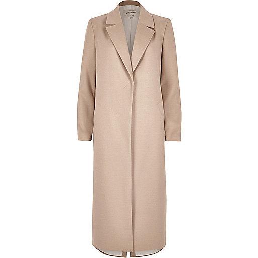 Klassischer Mantel in Hellrosa
