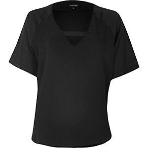 Black tab detail t-shirt