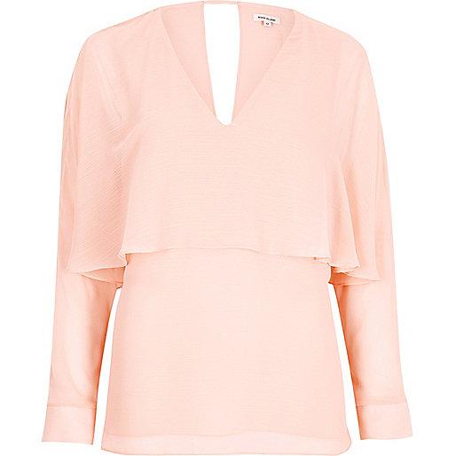 Pink angel cape top