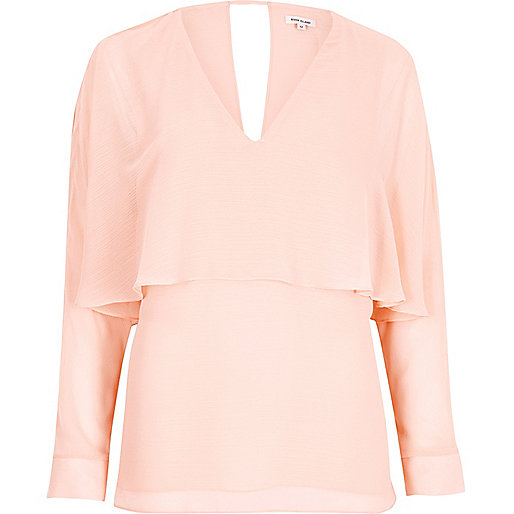 Pink angel cape top