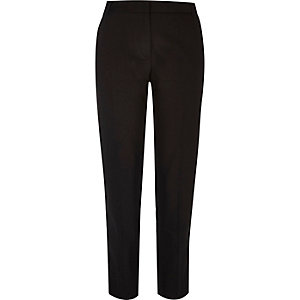 Black military slim fit trousers