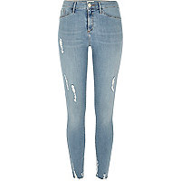 Light blue ripped Molly jeggings