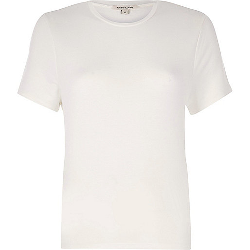 White tie back T-shirt