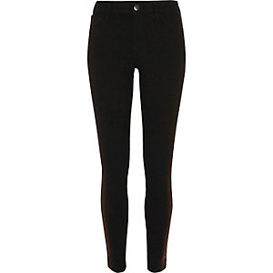 Black metallic Molly jeggings
