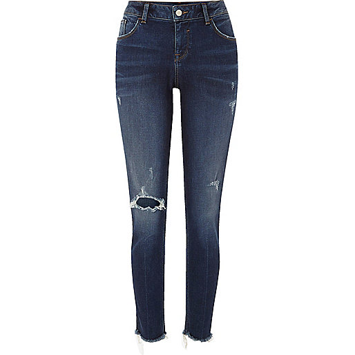 Alannah – Legere Skinny Jeans in dunkler Waschung