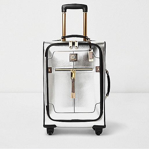 Koffer mit Silber- und Goldakzenten