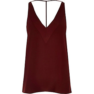 Red T-bar cami
