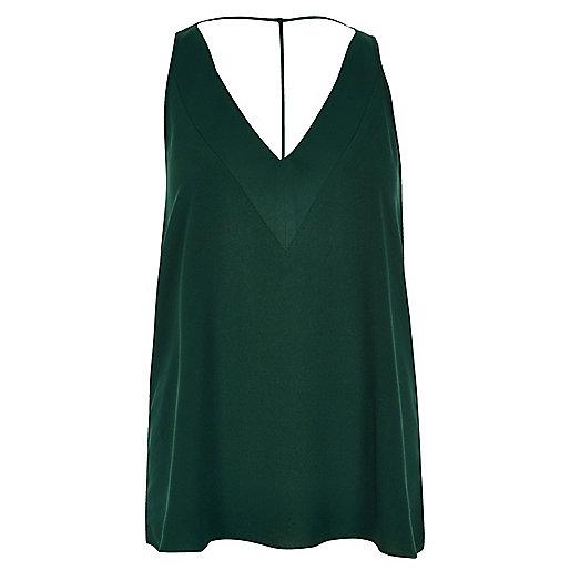 Dark green T-bar cami