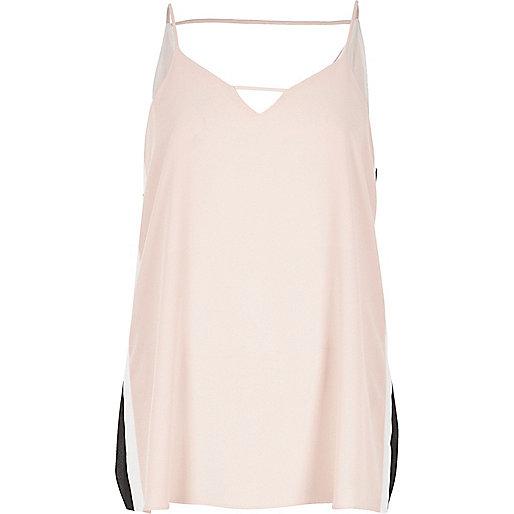 Blush pink sports detail cami