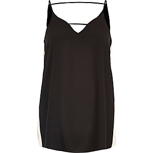 Black sports detail cami