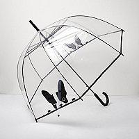 Transparent French Bulldog umbrella