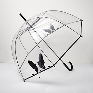 Transparent French Bulldog umbrella
