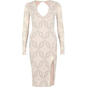 Pinkes, glitzerndes Bodycon-Kleid