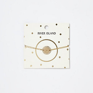 Gold tone 'S' initial bracelet