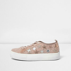 Pink sparkly star trainers