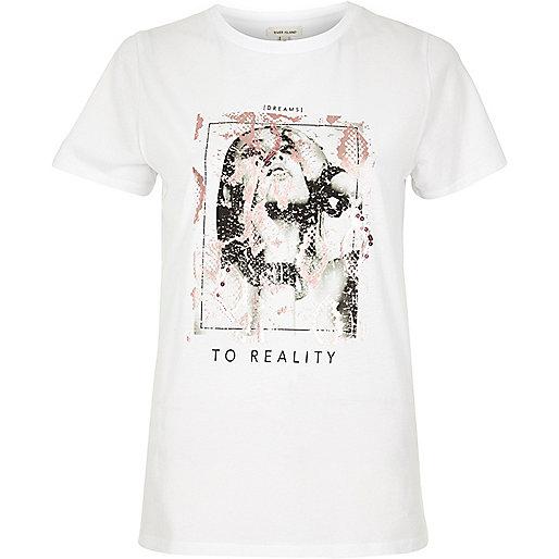 T-shirt blanc à sequins