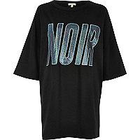 Black 'Noir' oversized T-shirt
