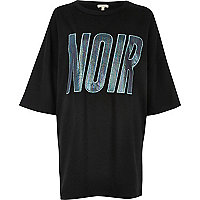 Black 'Noir' oversized T-shirt