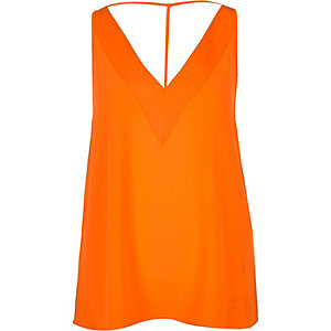 Orange strap back cami
