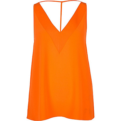 Orange T-bar cami