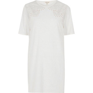 White western stud mesh oversized T-shirt