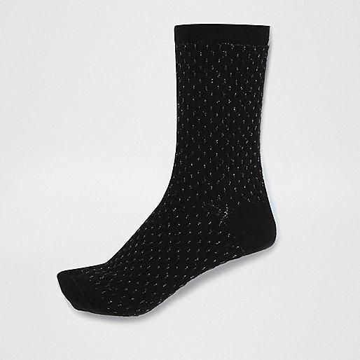 Black pintuck socks