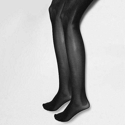 Black 60 denier tights pack