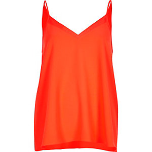 Bright red chiffon insert cami