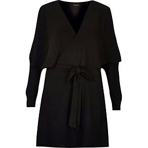 Cape-Kleid in Wickeloptik