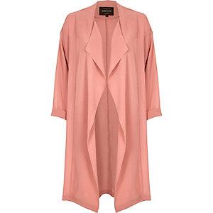 Pink fallaway duster jacket