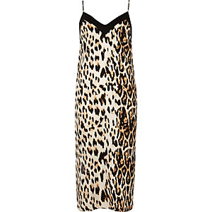 Leopard cami midi dress