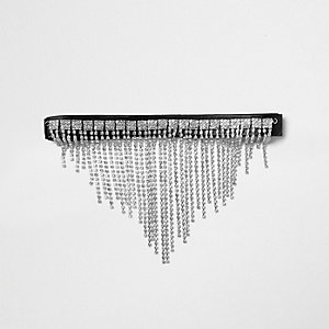 Black sparkle chain choker