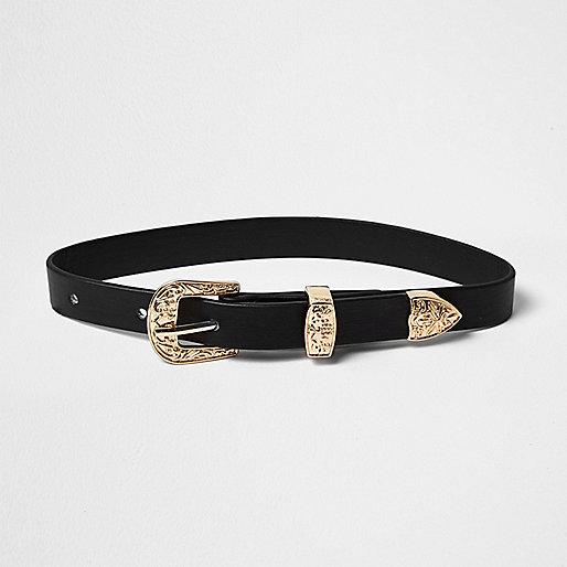 Ras-de-cou façon ceinture noire style western