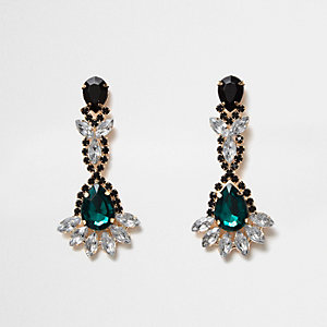 Emerald dangly earrings