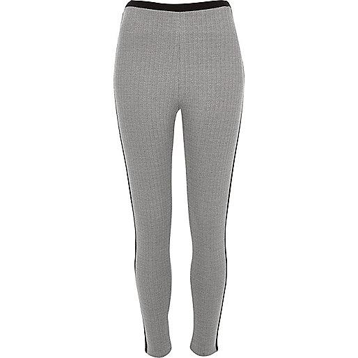 Black herringbone leggings