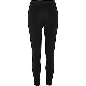 Legging en jersey noir lisse