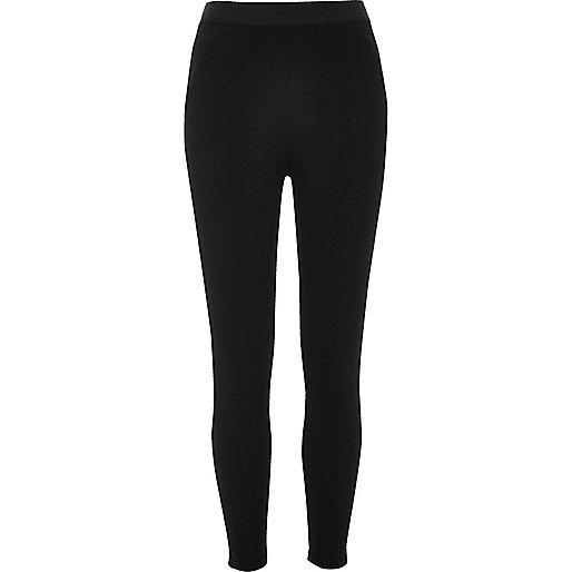 Black smooth jersey leggings