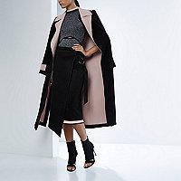 RI Studio black double-sided open duster coat