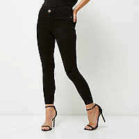 Petite black Molly jeggings