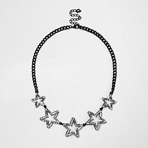 Schwarze Statement-Halskette mit Sterndesign