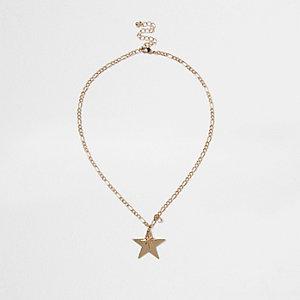 Chaîne dorée à pendentif étoile
