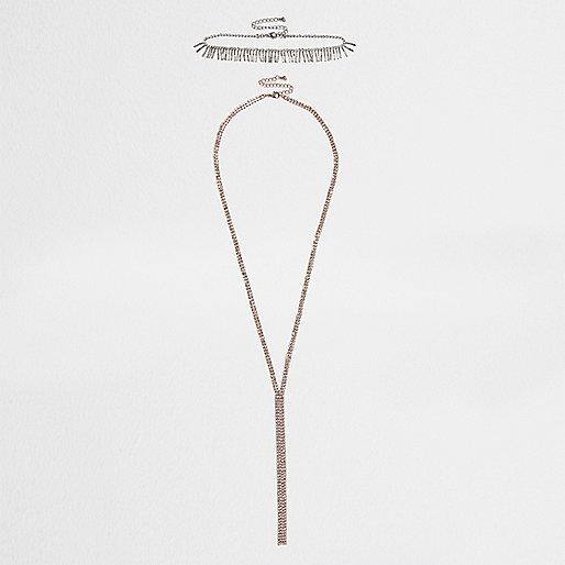 Glitzerndes Halsband in Gold und Silber