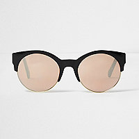 Black rose gold lens sunglasses