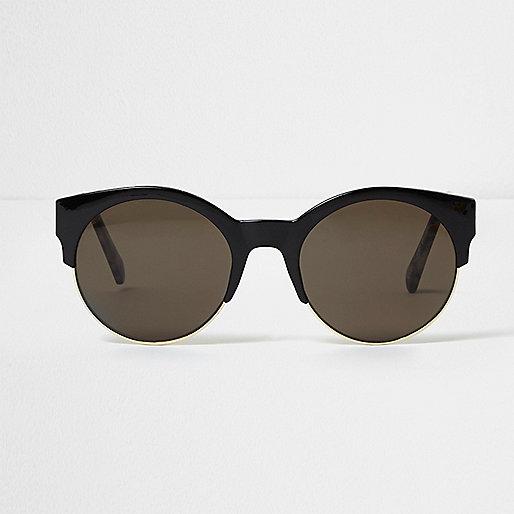 Black smoke lens sunglasses